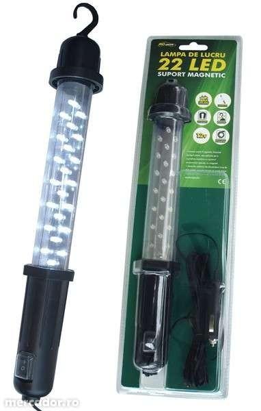 Lampa lucru 12V cu suport magnetic 22 LED-uri 0