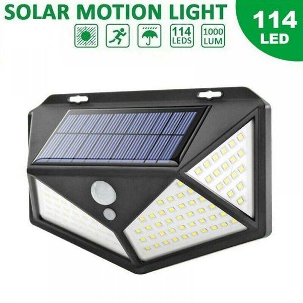 Lampa solara de perete cu senzor de lumina si miscare 114 LED [0]