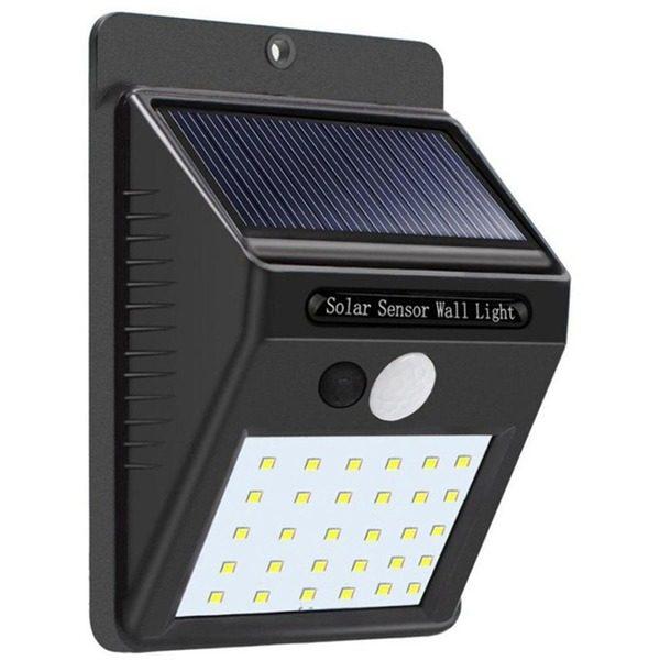 Lampa solara de perete cu senzor miscare 30 LED-uri SMD [0]