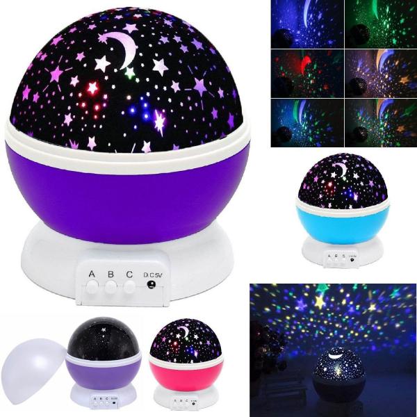 Lampa veghe proiectie stele si luna cu rotatie 360 Star Master [1]