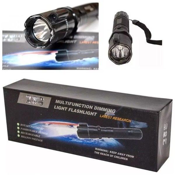 Lanterna autoaparare multifunctionala cu electrosoc si laser 0