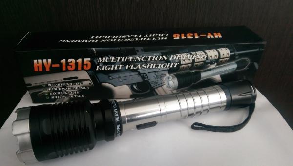 Lanterna cu electrosoc pentru autoaparare cu 3 faze de iluminare HY-1315 1