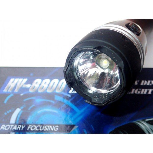 Lanterna cu electrosoc pentru autoaparare cu maner cauciucat,HY-8800 [3]