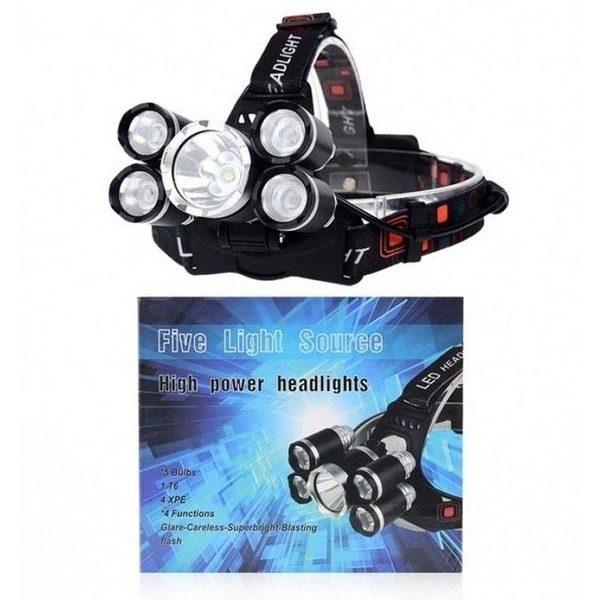 Lanterna frontala High Power cu 5 leduri puternice CREE 0
