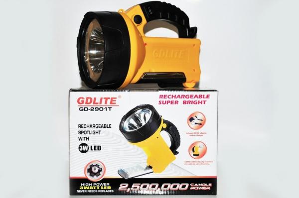 Lanterna reincarcabila cu bec halogen si acumulatori GDLITE GD-2901T [0]