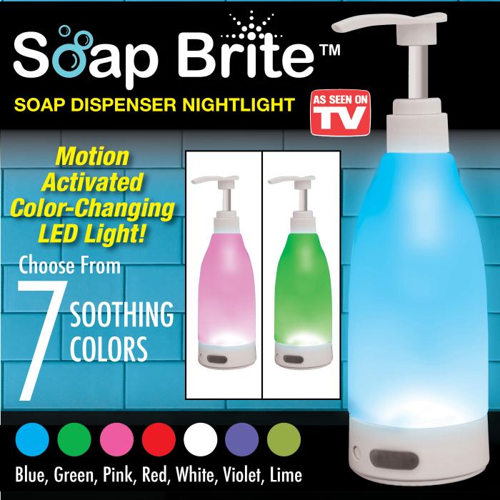 Dozator de sapun cu lumina LED si senzor de miscare, Soap Brite 400ml 3
