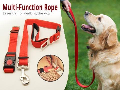 Lesa pentru caini ajustabila Multifunctional Dog Rope 0