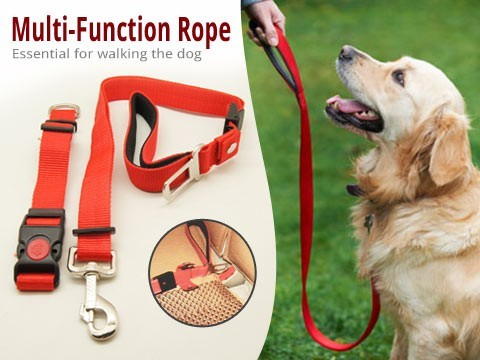 Lesa pentru caini ajustabila Multifunctional Dog Rope 1