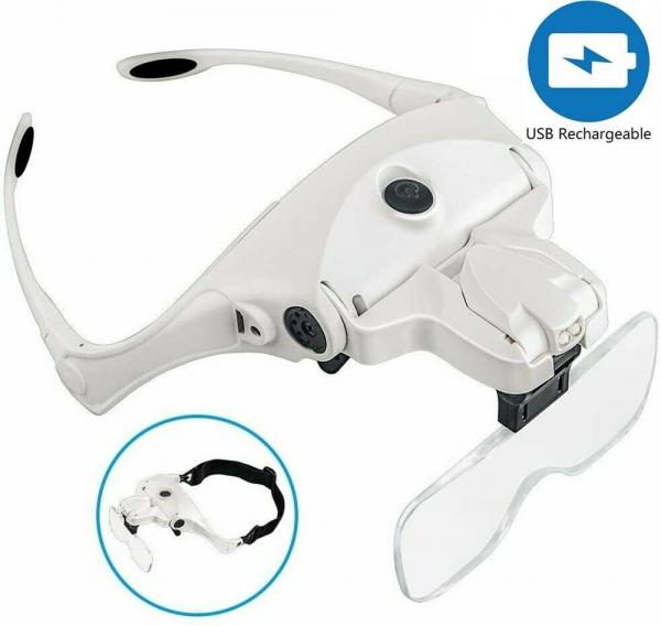 Lupa tip ochelari cu iluminare 2 Led-uri si acumulator incorporat 9892B2C [0]