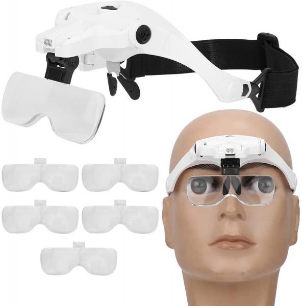 Lupa tip ochelari cu iluminare 2 Led-uri si acumulator incorporat 9892B2C [3]
