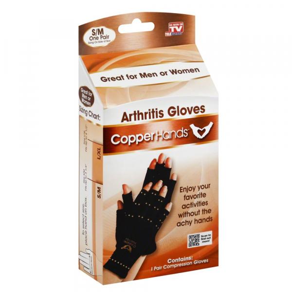 Manusi compresive unisex cu cupru impotriva artritei Copper Hands 0