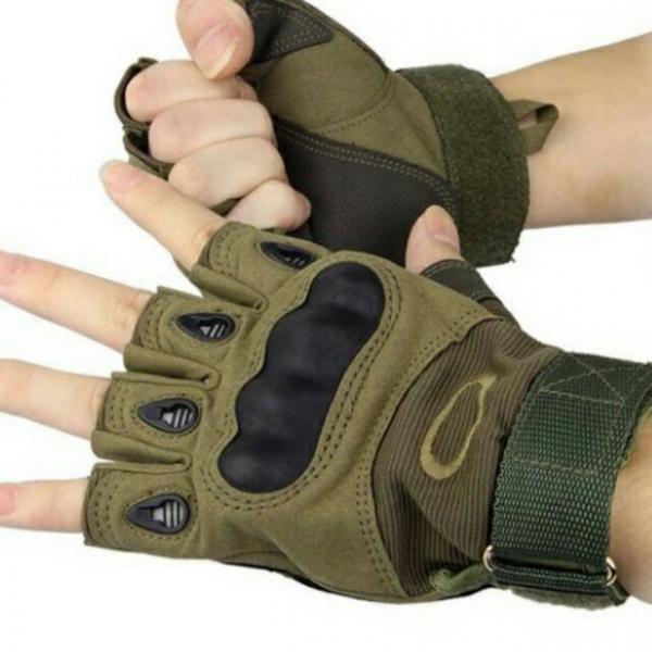 Manusi OAKLEY Tactice Half Finger maro 4