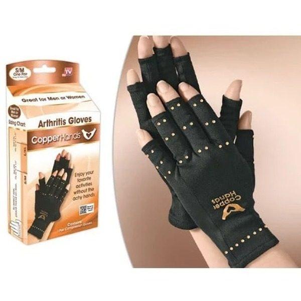Manusi compresive unisex cu cupru impotriva artritei Copper Hands 1