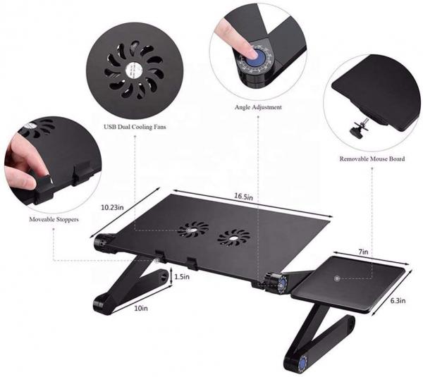 Masuta reglabila si pliabila pentru laptop T8 cu 2 ventilatoare incluse 5