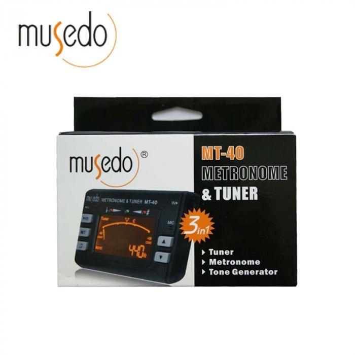 Metronom si Tuner acordor multifunctionale pentru chitara, Musedo MT40 [2]
