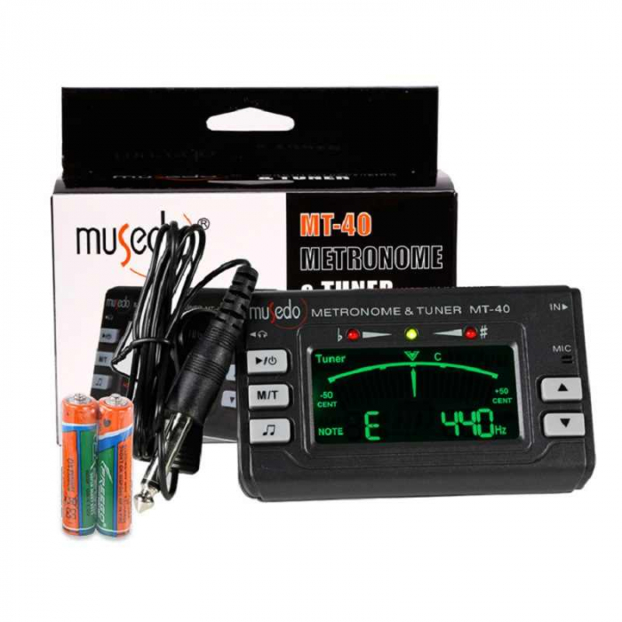 Metronom si Tuner acordor multifunctionale pentru chitara, Musedo MT40 [1]