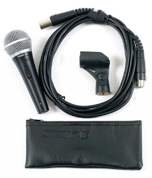 Microfon profesional dinamic cu fir Shure PG58 0