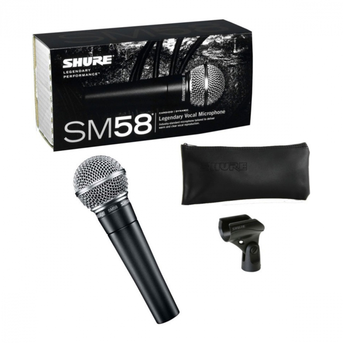 Microfon cu fir vocal Unidirectional Dynamic Shure SM58 1
