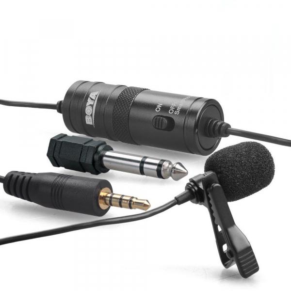 Microfon Omnidirectional Lavaliera Boya BY-M1 pentru camere foto si Smartphone 5