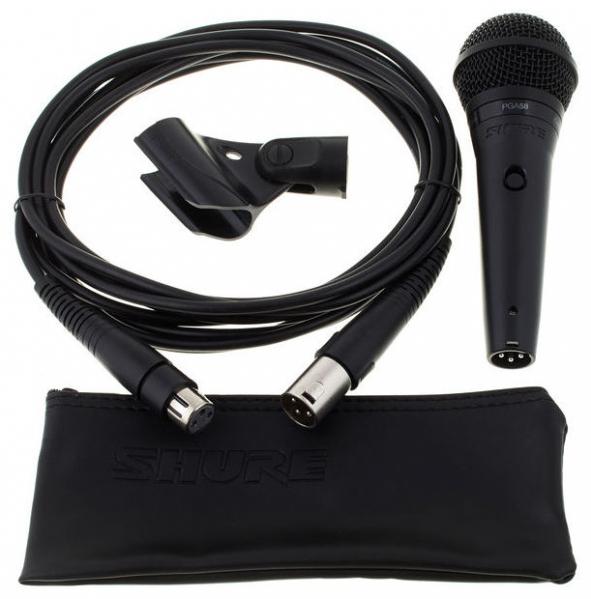 Microfon profesional dinamic cu fir Shure PGA 58, cardioid 1