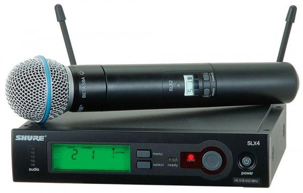 Microfon wireless 58A / SLX 24  Shure Beta 0