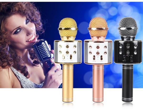 Microfon wireless pentru Karaoke WS-858 cu Bluetooth 0