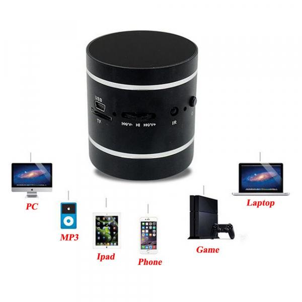 Mini Boxa cu Amplificare prin Vibratii Sunet 360 de grade Radio si MP3 3