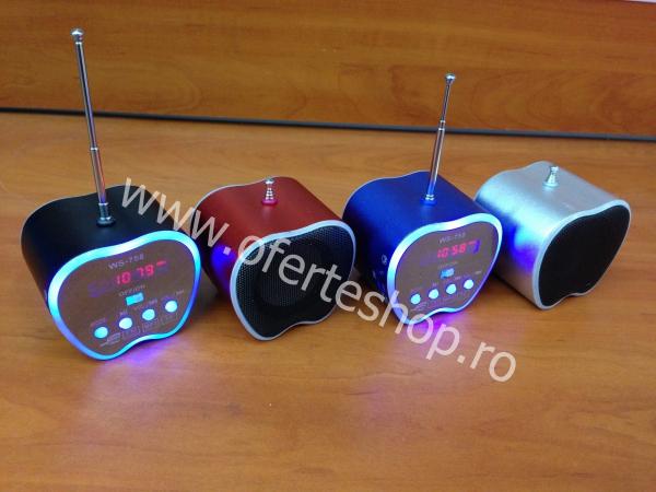 Mini boxa cu radio si MP3 WS-758 0