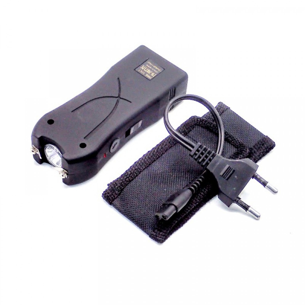 Mini electrosoc cu lanterna pentru autoaparare TW-398 3
