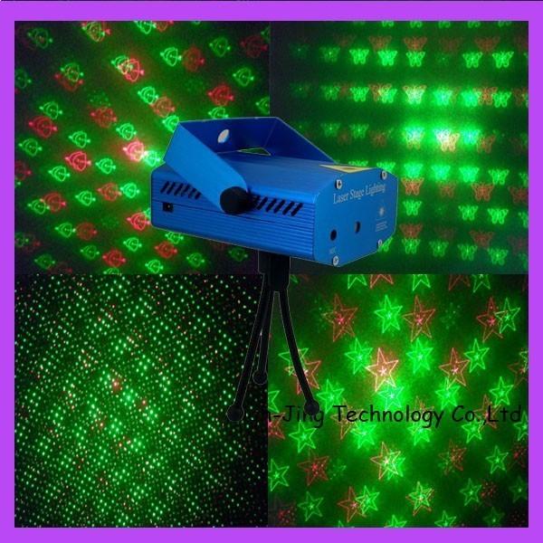 Mini Laser cu 4 figurine luminoase stage lighting 0