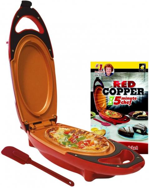Mini tigaie electrica pentru gatit rapid Red Copper 5 minutes Chef 0