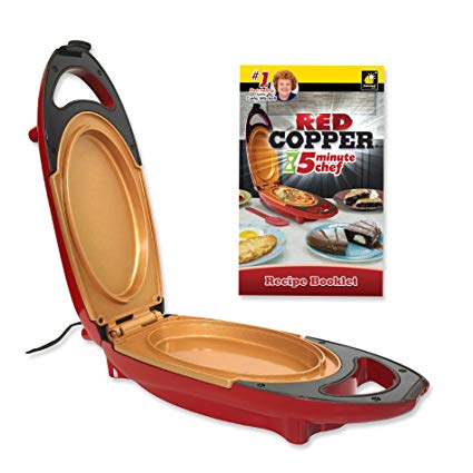 Mini tigaie electrica pentru gatit rapid Red Copper 5 minutes Chef 2