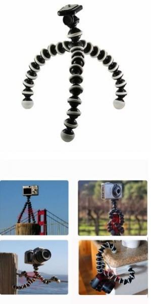 Mini trepied pentru camera foto compacte flexibil  1