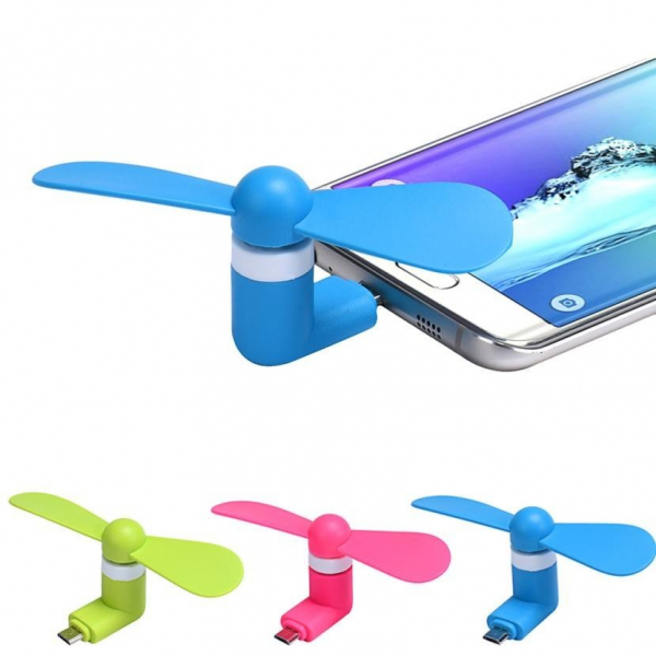 Mini ventilator portabil pentru telefon mobil Samsung 0