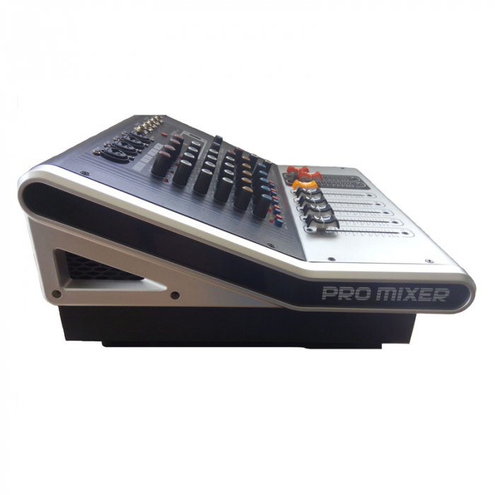 Mixer amplificat profesional WVNGR KA-40, cu 4 canale, 4 intrari microfon si cititor USB [1]