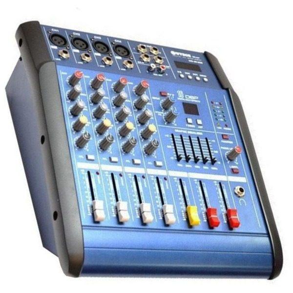 Mixer amplificat WVNGR WG-4DUSB cu 200 W si 4 canale [0]