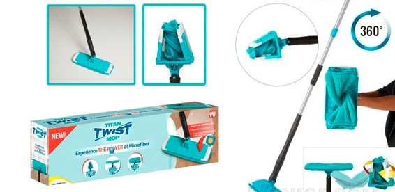 Mop manual cu microfibre super clean Titan Twist Mop 3