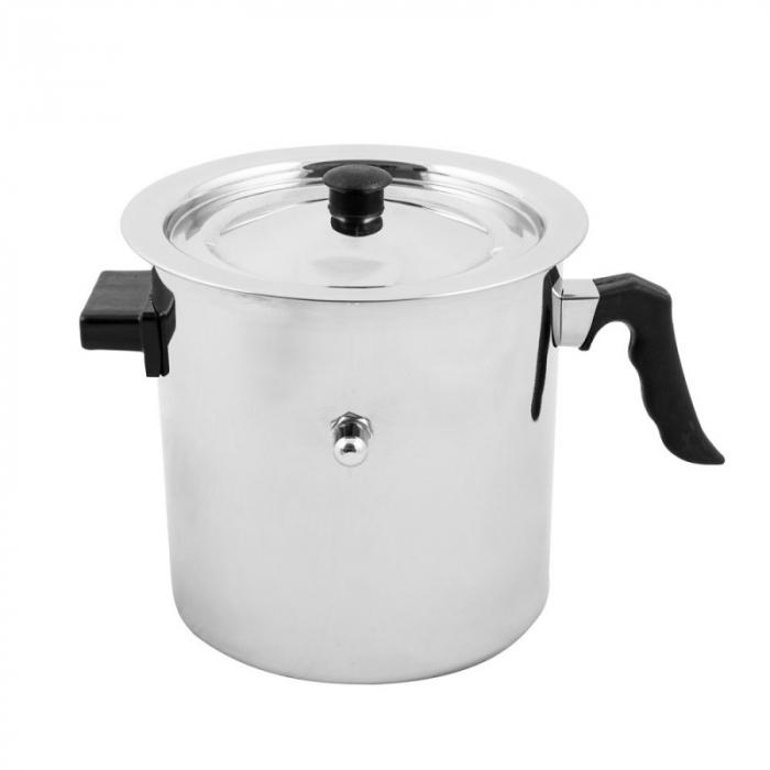 Oala din inox de fiert lapte 3 litri cu pereti dubli si avertizare sonora,Grunberg GR-1518 0