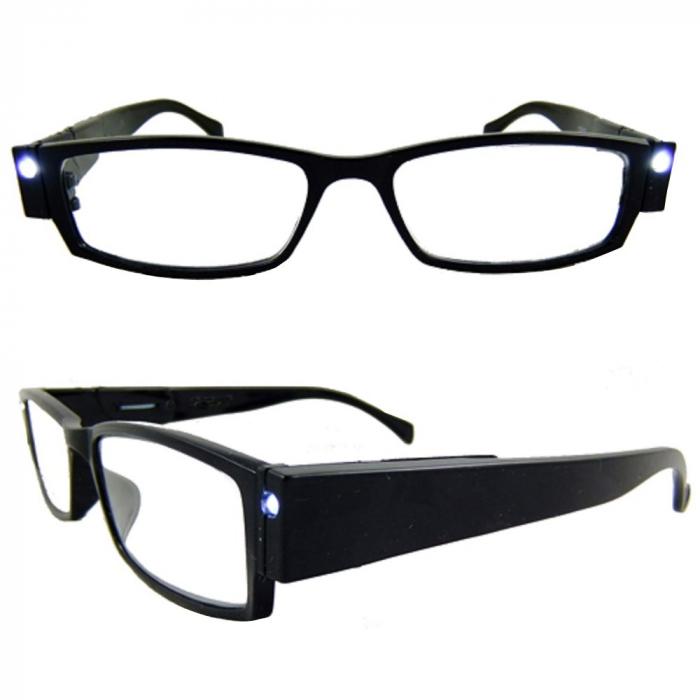 Ochelari pentru citit dotati cu 2 LEDuri si dioptrii +2.00,Multi Strength [1]