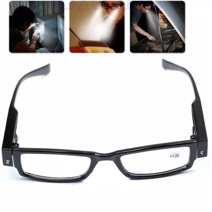 Ochelari pentru citit dotati cu 2 LEDuri si dioptrii +2.00,Multi Strength [0]