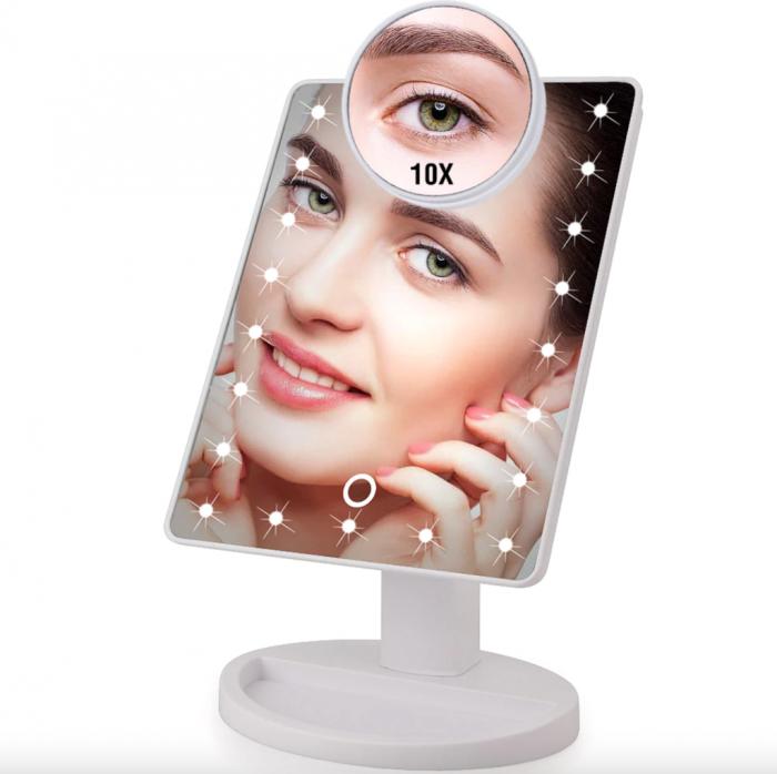 Oglinda cosmetica iluminata cu 22 LED Make Up touch 3