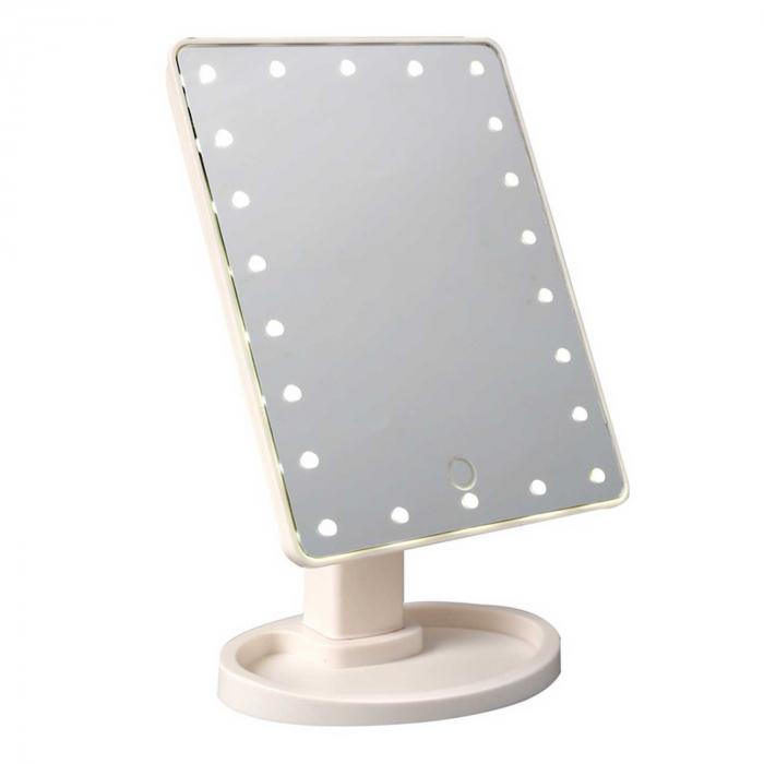 Oglinda cosmetica iluminata cu 22 LED Make Up touch 1