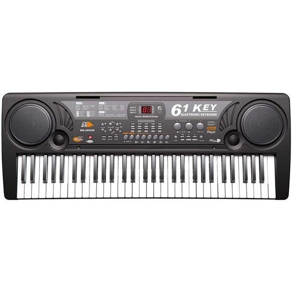 Orga electronica 61 de clape MQ-809 cu microfon si citire USB / MP3 0