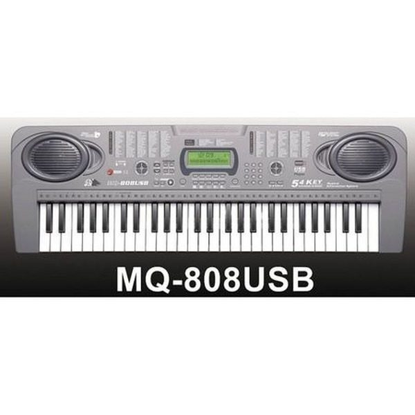 Orga electronica cu 54 clape MQ-808USB cu microfon si citire USB/MP3 0