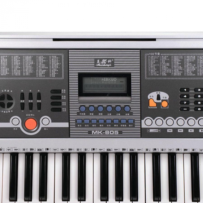 Orga electronica MK-805 cu 61 de clape,5 Octave,citire USB Mp3 si telefon mobil [2]