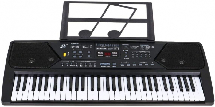 Orga electronica 61 clape MQ-600UFB, cu display, Bluetooth, microfon, Radio Fm, USB MP3 player [2]