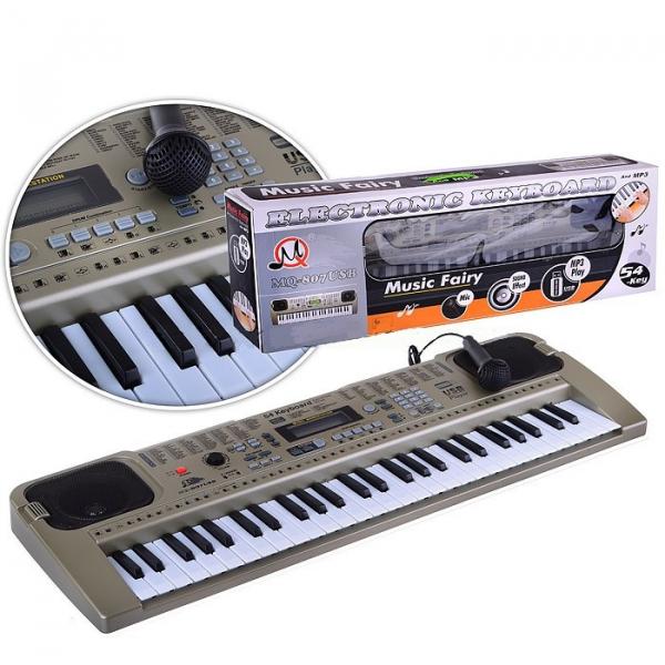 Orga electronica cu 54 clape MQ-807USB si boxe, microfon,Usb Stick Mp3 Player 3