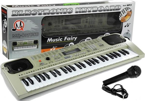 Orga electronica cu 54 clape MQ-807USB si boxe, microfon,Usb Stick Mp3 Player 4