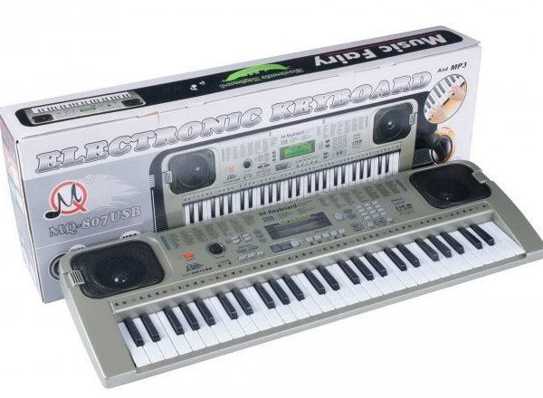 Orga electronica cu 54 clape MQ-807USB si boxe, microfon,Usb Stick Mp3 Player 1