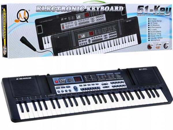 Orga electronica multifunctionala 61 clape MQ-829USB cu Boxe,MP3,USB si Microfon 0